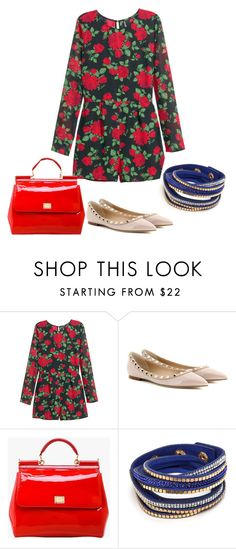 """""""Mi enterizo"""" by paty-jose on Polyvore featuring H&M, Valentino, Dolce&Gabbana, women's clothing, women, female, woman, misses and juniors"""
