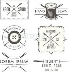 Vector Art : Set of vintage tailor labels and emblems