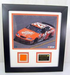 2003 Tony Stewart #20 Home Depot Chevy Used Sheet Metal & Picture Framed Matted