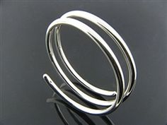Sterling silver bangle - Coil two spring Silver Bangles, Spiral, Jewerly, Sterling Silver, Bracelets, Mexican, Bangles, Jewlery, Silver Bangle Bracelets