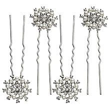 Cubic zirconia hair pins for bride wedding day inspiration