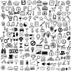 Set di icone di sketch