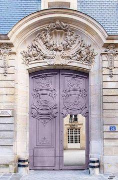Paris Photography - Mauve Door, Architectural