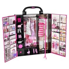 The perfect #DreamCloset for this jet-setting doll! i NEED a closet like this - so organized & fitted with everything a girl Needs - almost everything ~