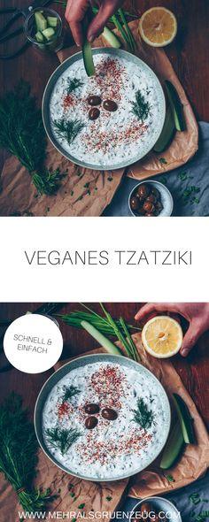 Tzatziki vegan - das geht ganz einfach, ist schnell gemacht und schmeckt wie beim Griechen. Sagen jedenfalls alle.