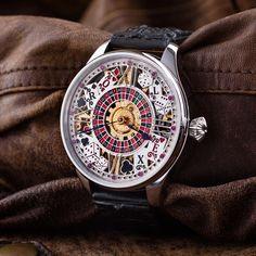 Rolex Skeletonized vintage Casino Men's Wrist Watch – Patina Original Mens Skeleton Watch, Custom Leather, Watch Brands, Omega Watch, Rolex, Watches, Unisex, Classic, Accessories