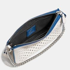 NOLITA WRISTLET 19 IN PERFORATED LEATHER from Coach. Wish this came in other colors.