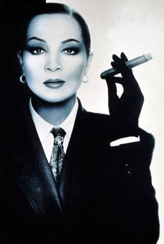 Sara Montiel.   Women & Cigars