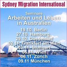 Living and Working in Australia - Conferences in Europe in 2013
