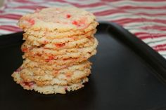 Peppermint Cheesecake cookies -  These cookies are texturally awesome! They are crispy and crunchy on the edges but soft and chewy in the centers. They definitely have a cheesecake taste made even more festive with the addition of some crushed candy canes. Plus, their resemblance to snowflakes is an added bonus!