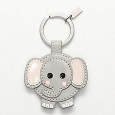 Coach - Leather Elephant Key Ring - $38