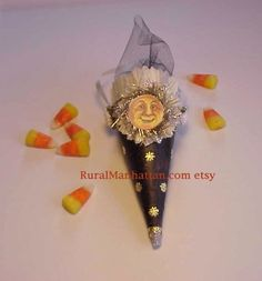 Another cute Halloween Feather Tree candy cone from RuralManhattan on Etsy!