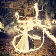 There are SO many awesome ways to incorporate sparklers into your wedding photos!