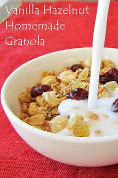 Very Vanilla Hazelnut Granola Recipe (Dairy-Free, Gluten-Free, Vegan)