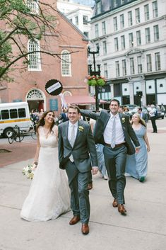 Getting married at Old South Meeting House means you and your guests are just steps away from world-class restaurants, perfect for your reception. And the walk provides great photo ops along the way!   Congratulations to Lauren and Thomas! Photography by: Shane Godfrey