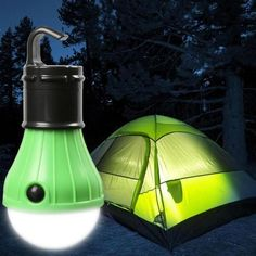 Mini Portable Tent Light Camping lights are powered by 3 AAA batteries (NOT Included) diffused light and energy saving LED bulbs. A camping lamp that hangs on a tent or branch. This is a good camping lamp in the open night. Camping Equipment, Camping Gear, Outdoor Camping, Family Camping, Camping Items, Camping Tools, Camping Products, Camping Supplies, Camping Lamp