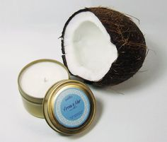 Arena y Mar 4 oz. tin// Coconut & Hibiscus// Hand-poured Natural Soy Candle