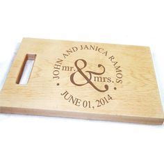 Personalized Cutting Board-Custom Laser Engraved Family Plaque- Mr and Mrs. Wood Sign-Wedding Anniversary Gift-Laser Cut Family Established