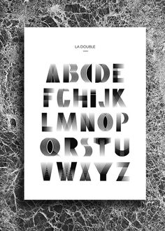 Type for the ABC part of Double Magazine by leslie david
