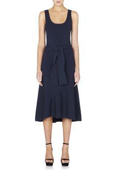 Arellano Tie Waist Knit Dress