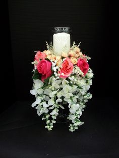 Cascading Candle Centerpiece Designed By Karen B AC Moore Erie PA