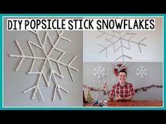 Make your festive snowflakes! - YouTube