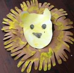 """Hand""some King of the Jungle- what a cute handprint art idea!"