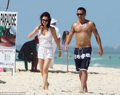 Colin Farrell Shows Off His Hot Shirtless Bod Colin Farrell, Trunks, Swimming, Beach, Hot, Swimwear, Fashion, Celebrity Photos, Pretty People