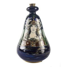 Amphora Turn Teplitz RSTK Lady of the Lake Portrait Vase | From a unique collection of antique and modern vases and vessels at https://www.1stdibs.com/furniture/decorative-objects/vases-vessels/