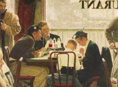"""8b. Norman Rockwell, """"Saying Grace"""" aus dem Jahr 1951, Öl auf Leinwand, 109 mal 104 Zentimeter: Zuschlag bei 41 Millionen Dollar (Taxe 15/2..."""