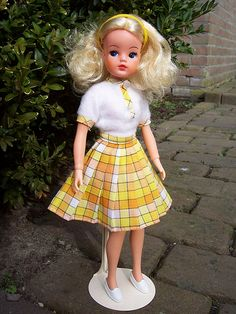 Vintage Sindy; I had this one and I can still remember the way it feeled when you put her clothes on...