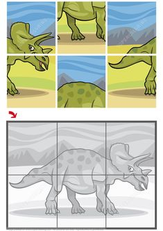 Triceratops Dinosaur Jigsaw Puzzle from Jigsaw puzzles. Great collection of jigsaws and math puzzles Jigsaw Puzzles For Kids, Printable Puzzles For Kids, Puzzle Games For Kids, Maths Puzzles, Dinosaur Worksheets, Shape Worksheets For Preschool, Dinosaur Puzzles, Toddler Learning, Preschool Activities