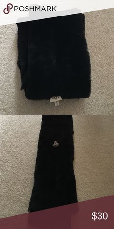 Ugh scarf Black ugg scarf. Very soft and warm! UGG Accessories Scarves & Wraps
