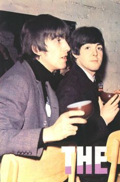 George & Paul - George looks like Dhani here (i.e. Dhani grew to be the spitting image of his dad)