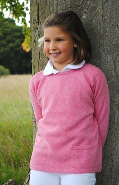Especially designed knitwear for older girls in three cutting edge colours