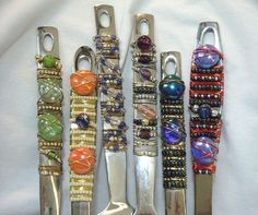 Bead & Wire ornamented flatware - Can you imagine eating with such decorative utensils?