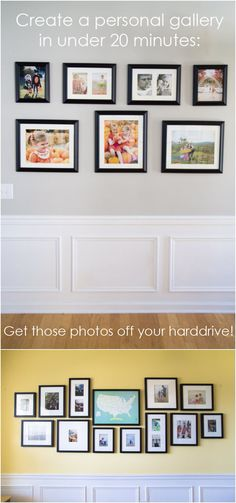 Easy to hang wall frames