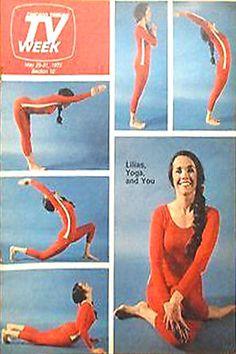 1975: Chicago Tribune TV Week Magazine with Lilias Folan in various yoga asanas on the front cover .... #yogahistory #vintageyoga #yoga #liliasfolan #1970s