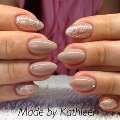 Lovely nude nails... Like my fb page... K's nails and beauty corner!!