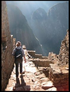 A hike in Machu Picchu >>> I'm dying to visit this area. I like this photo since it is so different than the normal overviews you see. Have you been? What did you think?