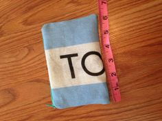 Toms Flag Zipper Pouch  Light Teal Zipper by bybmg on Etsy, $7.50