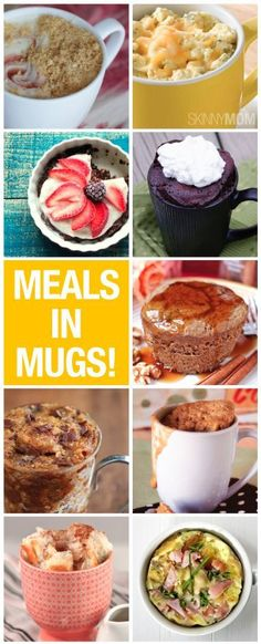 Here are healthy meals you can make in a mug!