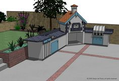More photos of potential outdoor kitchens