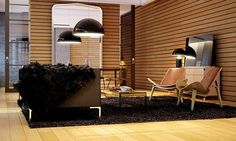 Home Design, Black Rug Designer Chairs Large Pendant Light Door Glass White Ceiling Chandelier Wall Brown Floor Mirror Locker Cup Wire Chest Of Drawer Coffee Table Minimalist And Materials ~ Cool Loft Home Design and Renovation Project from London