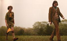 Wes Anderson and Jared Gilman on the set of Moonrise Kingdom
