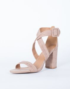 ee08873d8bca Christine Strappy Heels - Light Taupe Strappy Heels - Cross Banded Strappy  Heels – 2020AVE  2020AVExBTS