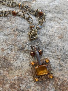 Skeleton Key Necklace Steampunk Repurposed Antique by Vinchique, $50.00