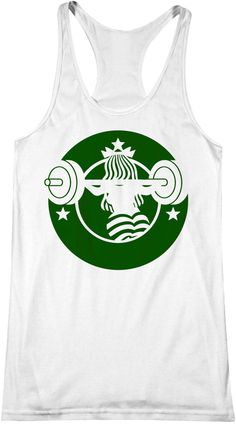 Barbucks 2.0 -  Starbucks Workout Tank, Coffee, Fitness anktop, Crossfit, Yoga, Fit, Top, Gym, Barre, Pilates, Beachbody
