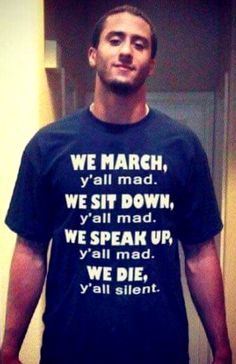 Colin Kaepernick, the liberal media whore, just took a picture wearing a t-shirt with a message that has people horrified. What do you think of this? My Black Is Beautiful, Black Love, Black Men, Black Pride, Before Us, The Villain, History Facts, My Guy, Black People