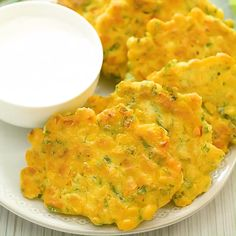 These easy Corn Fritters are sweet, delicate, and filling. They can be prepared with fresh, frozen, or canned corn. Canned Corn Recipes, Sweet Corn Recipes, Corn Fritter Recipes, Indian Corn Recipes, Frozen Vegetable Recipes, Cabbage Recipes, Vegetarian Recipes, Cooking Recipes, Healthy Recipes